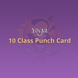 Yoga 10 Class Punch Card